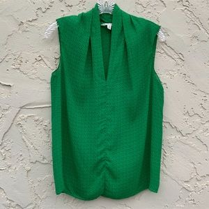 Cabi Green V-Neck Top Size Extra Small